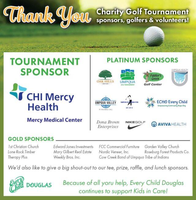 Thank You Every Child Douglas Golf Tournament Sponsors